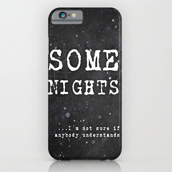 SOME NIGHTS iPhone & iPod Case
