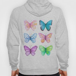 Vibrant butterflies watercolor Hoody