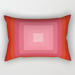 Buggin' Out - retro 70s throwback minimal art 1970s style abstract colorful Rectangular Pillow