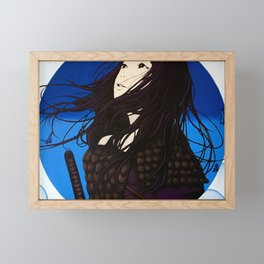 Fight or Flight (Mural at Electric Ramen, Gainesville FL) Framed Mini Art Print