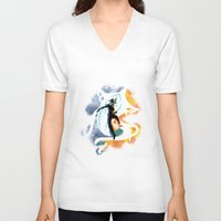 legend of korra V-neck T-shirts featuring THE LEGEND OF KORRA by Beka
