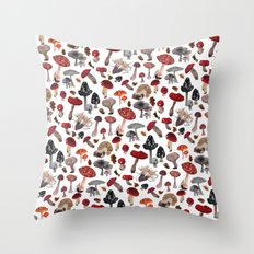 Feeling Funghi Mushroom Party Throw Pillow