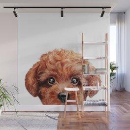 Toy poodle-reddish brown Dog illustration original painting print Wall Mural
