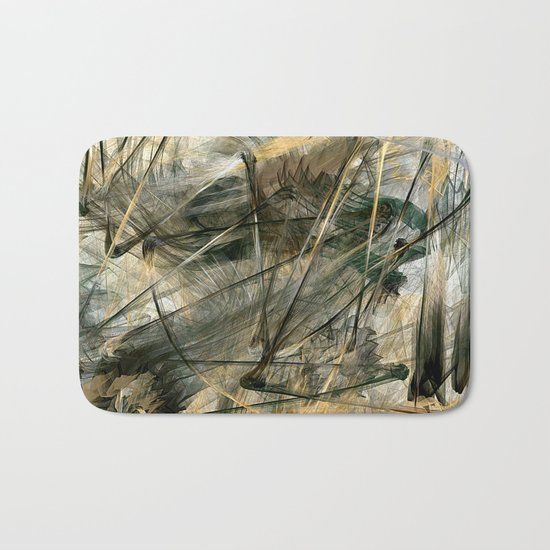 Silver and Gold Bath Mat