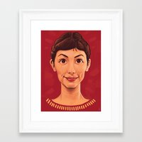 amelie Framed Art Prints featuring Amelie by DC Bowers