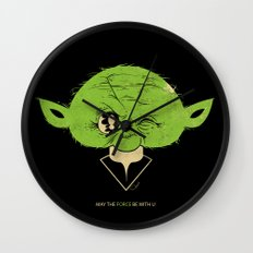 StarWars May the Force be with you (green vers.) Wall Clock
