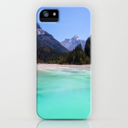 Stunning turquoise water in Kranjska Gora, Slovenia iPhone Case