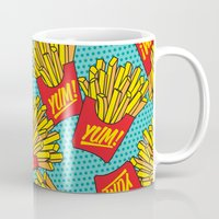 moschino Mugs featuring Would You Like Fries With That? Teal by Season of Victory