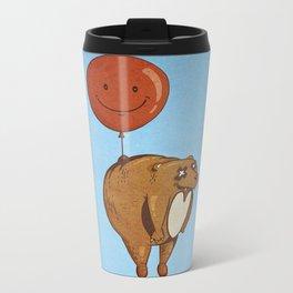 Float On, Bear, Float On Metal Travel Mug