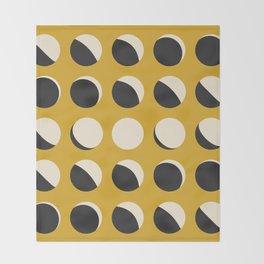 Moon Phased in Honey Throw Blanket