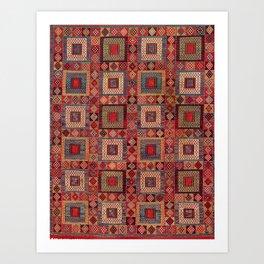 Azeri Zili Antique Karabagh Azerbaijan South Caucasus Flatweave Art Print
