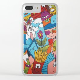 Jumble Mumble Clear iPhone Case
