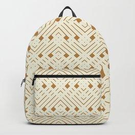 Golden Boho Little Geo Backpack