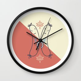 Cheerio Sausages - Red Colourway Wall Clock