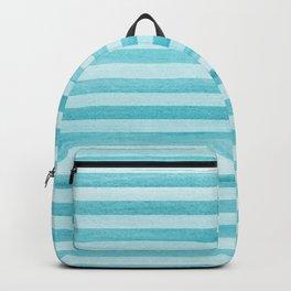 Soft Stripes Pattern - Aqua Blue Backpack