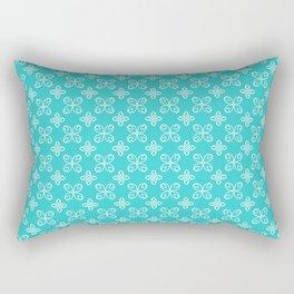 Teal Pattern 33 Rectangular Pillow