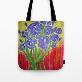 Purple Rose Bouquet Tote Bag