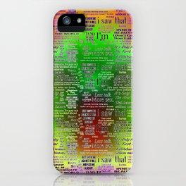 Neon Quotes & Memes iPhone Case