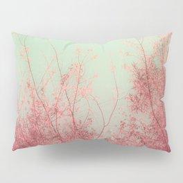 Harmony (Mint Blue Sky, Coral Pink Plants) Pillow Sham