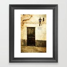Gibraltar, district police office Framed Art Print