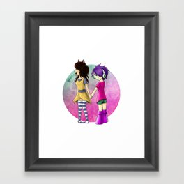 Yukiko & V2.0 Framed Art Print