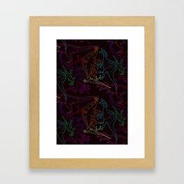 Psychedelic Dino Framed Art Print