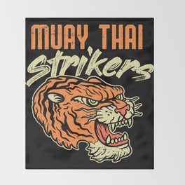 Muay Thai Strikers Tiger Kickboxing MMA Material Arts Judo Karate Gift Throw Blanket