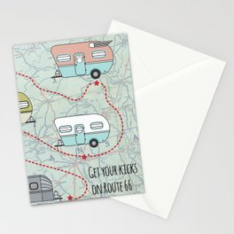 Get Your Kicks Stationery Cards