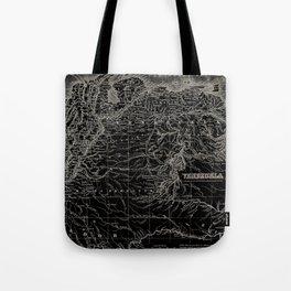 Venezuela Antique Map Tote Bag
