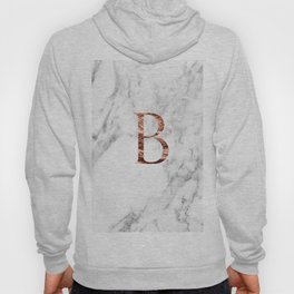 Monogram rose gold marble B Hoody