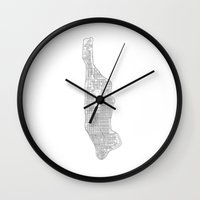 manhattan Wall Clocks featuring manhattan by Rick Onorato
