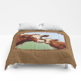 Guernsey Cow and Cute Calf Comforters