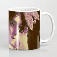 wedding Mugs featuring GARDEN WEDDING by Julia Lillard Art