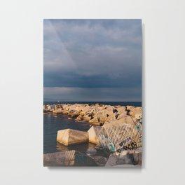 Barcelona Coast IV Metal Print