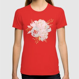 Roses Gold Glitter Pink by Nature Magick T-shirt