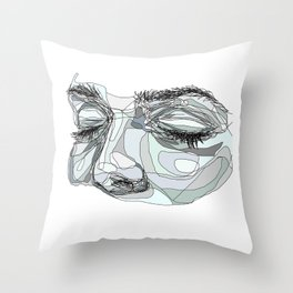 I'm waiting (blue) Throw Pillow