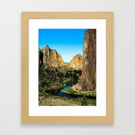 Rocks + River // Hiking Mountains Colorado Scenic View Landscape Photography Forest Backpacking Vibe Framed Art Print