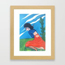 Cactus Skin Framed Art Print