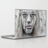 woman Laptop & iPad Skins featuring woman by teddynash