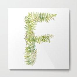 Initial F Metal Print
