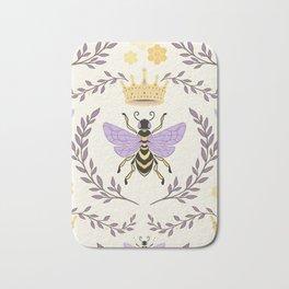 Queen Bee - Lavander Purple and Yellow Bath Mat