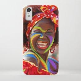 Life's a Carnival (Carnaval de Barranquilla) - Negrita Puloy Impressionism - Magical Realism iPhone Case