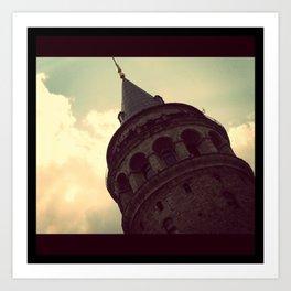 Galata Tower, Istanbul Art Print
