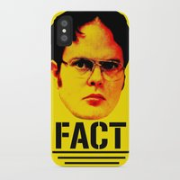 """dwight iPhone & iPod Cases featuring Dwight Schrute """"FACT"""" by Silvio Ledbetter"""
