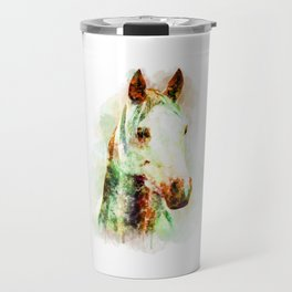 Horse Watercolor, Horse Print, Watercolor Print, Watercolor Animal, Horse Painting, Horse Gift Print Travel Mug