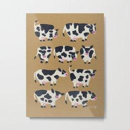 Cow Collection - Kraft Metal Print