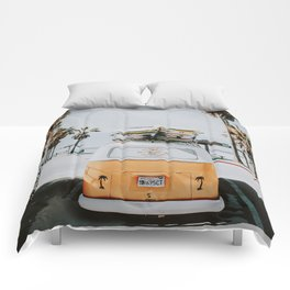 lets surf / venice beach, california Comforters