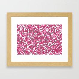 Pink camoflauge Framed Art Print