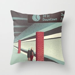 Day Trippers #3 - Waiting Throw Pillow