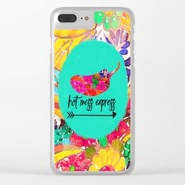 Hot Mess Express Clear iPhone Case